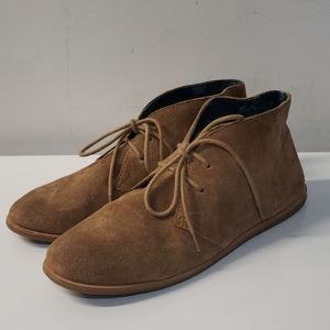 Lucky Brand Tan Suede Leather Ankle Boots Sz 7.5